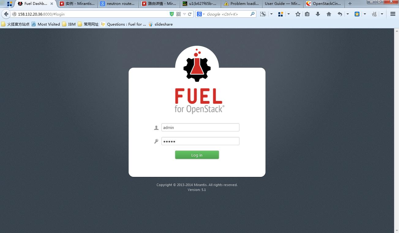 Fuel快速安装开源openstack的实践:第一部分小规模部署多节点,无HA